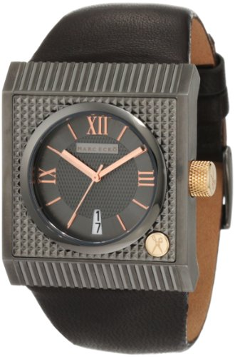 Marc Ecko Men's 'The Treasury (Mid)' Quartz Stainless Steel and Leather Casual Watch, Color:Brown (Model: M15002G1)