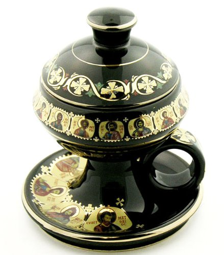 Greek Incense Burner (Home Incense Burner with Lid 4
