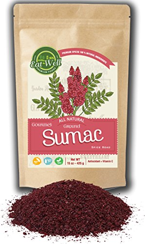 (Sumac Spice Powder | 15 oz - 425 g Reseable Bag | Bulk Ground Sumac Berries - Bran |Extra Grade Turkish Sumac Seasoning | Middle Eastern Spices | by Eat Well Premium Foods)