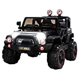 Uenjoy Ride on Cars 12V Children's Electric Cars Motorized Cars for Kids with Remote Control, 3 Speeds, Head Lights, Model HP-002, Black