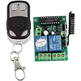 LEORX 2 Channel 12V 10A Universal Gate Garage Wireless Opener Remote Control Switch + Transmitter