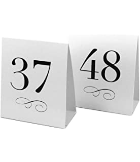 amazon com weddingstar 7022 13 table number tent style card