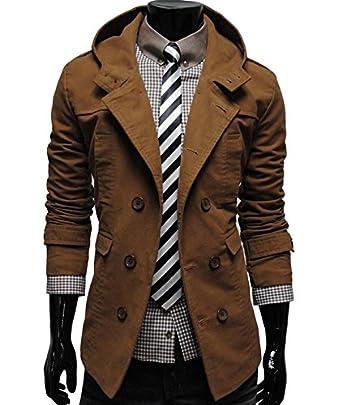 Stylish Double Breasted Coat Top Brain Jacket For Men: Amazon co uk