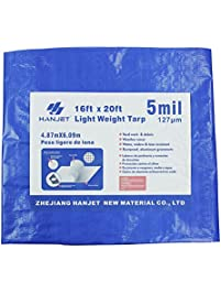 outdoor heavy duty tarp hanjet 16u0027 x 20u0027 5mil thick blue tarps