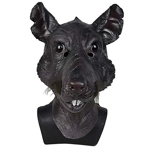 Adult Mutant Rat Head Animal Latex Mask, Splinter Monster Face Halloween Movie Cosplay Party Costume Mask
