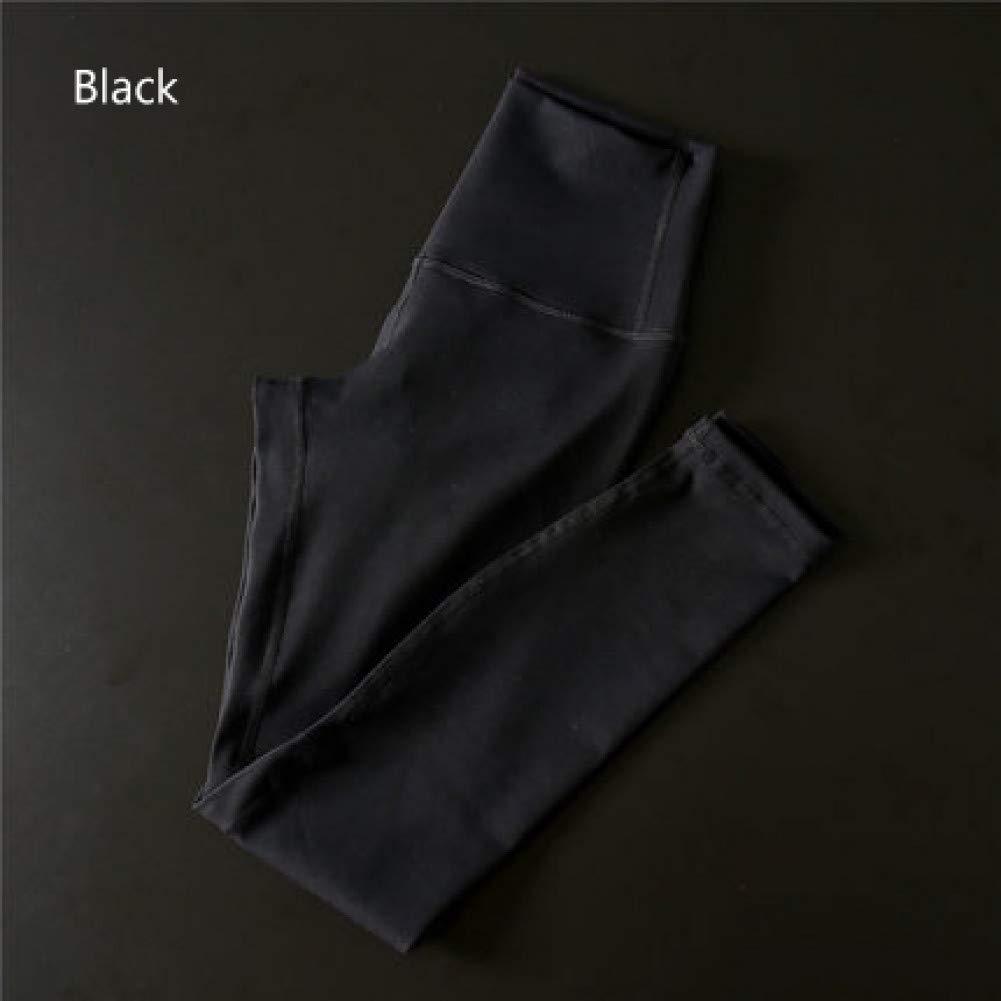 Noir NSYJKPantalon de yogaPantalon de Yoga Ultra Extensible pour Gymnase avec contrôle de Ventre avec Poche cachée Taille Haute Leggings Sport Push Up Pants X-Large