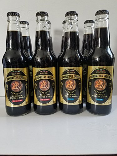 Manhattan Special Expresso Coffee Soda (4 Original & 4 Diet Bottles) Includes Priority Shipping by Manhattan Special