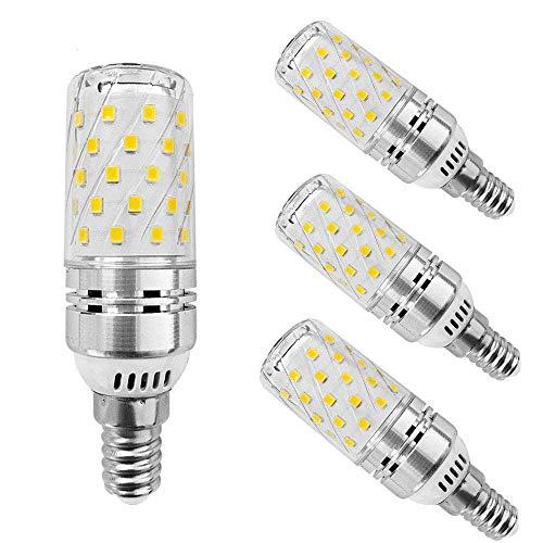 EBD Lighting 12W E14 LED Candelabra Light Bulbs (4 Pack),E14 Base LED Corn Bulb 3000K Warm White 120W Halogen Equivalent Non-Dimmable Candelabra LED Bulbs for Chandelier Home Lighting,AC85-265V