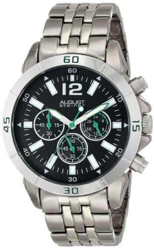 August Steiner Men's AS8111TTB Chronograph Two-tone Bracelet Watch
