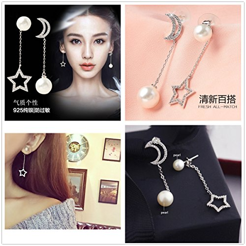 430c963d6 KOREA-JIAEN Pearl Earrings S925 Sterling Silver Plated Base - Import It All