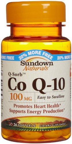 Sundown Naturals Q-Sorb Co Q-10, 100 mg, gélules, 36 ct.