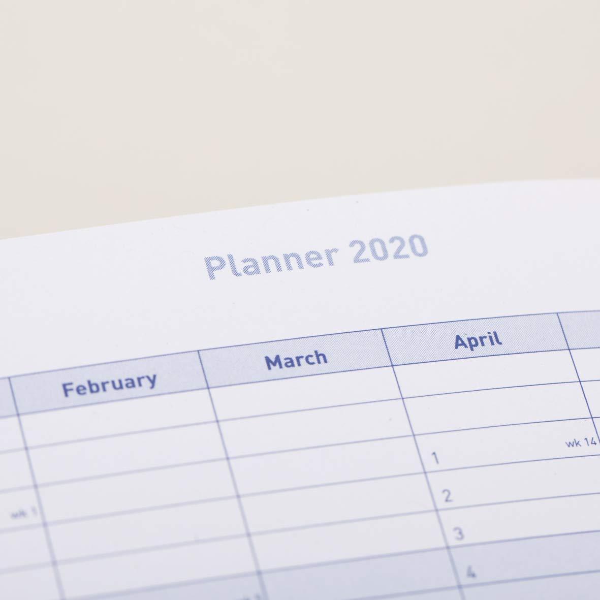 Milford 2019/Semainier A5/Agenda avec rendez-vous/ /Jan /à DEC/ /Windsor a5 Noir