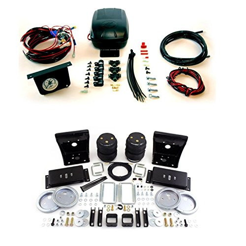Air Lift 57212/25592 Rear Set of Load Lifter 5000 Series Air Springs w/Load Controller II Compressor System Bundle for Ford F-250/F-350