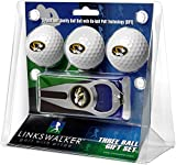 LinksWalker NCAA Missouri Tigers - 3 Ball Gift Pack with Hat Trick Divot Tool