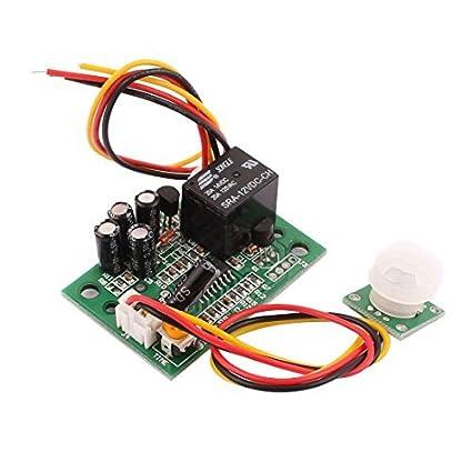 eDealMax 12V DC del Cuerpo humano Módulo del Sensor de movimiento del interruptor del Sensor de