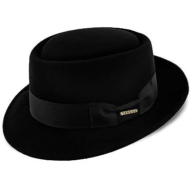 2dcb8b59 Stetson Cranston Wool Felt Porkpie Hat at Amazon Men's Clothing store: