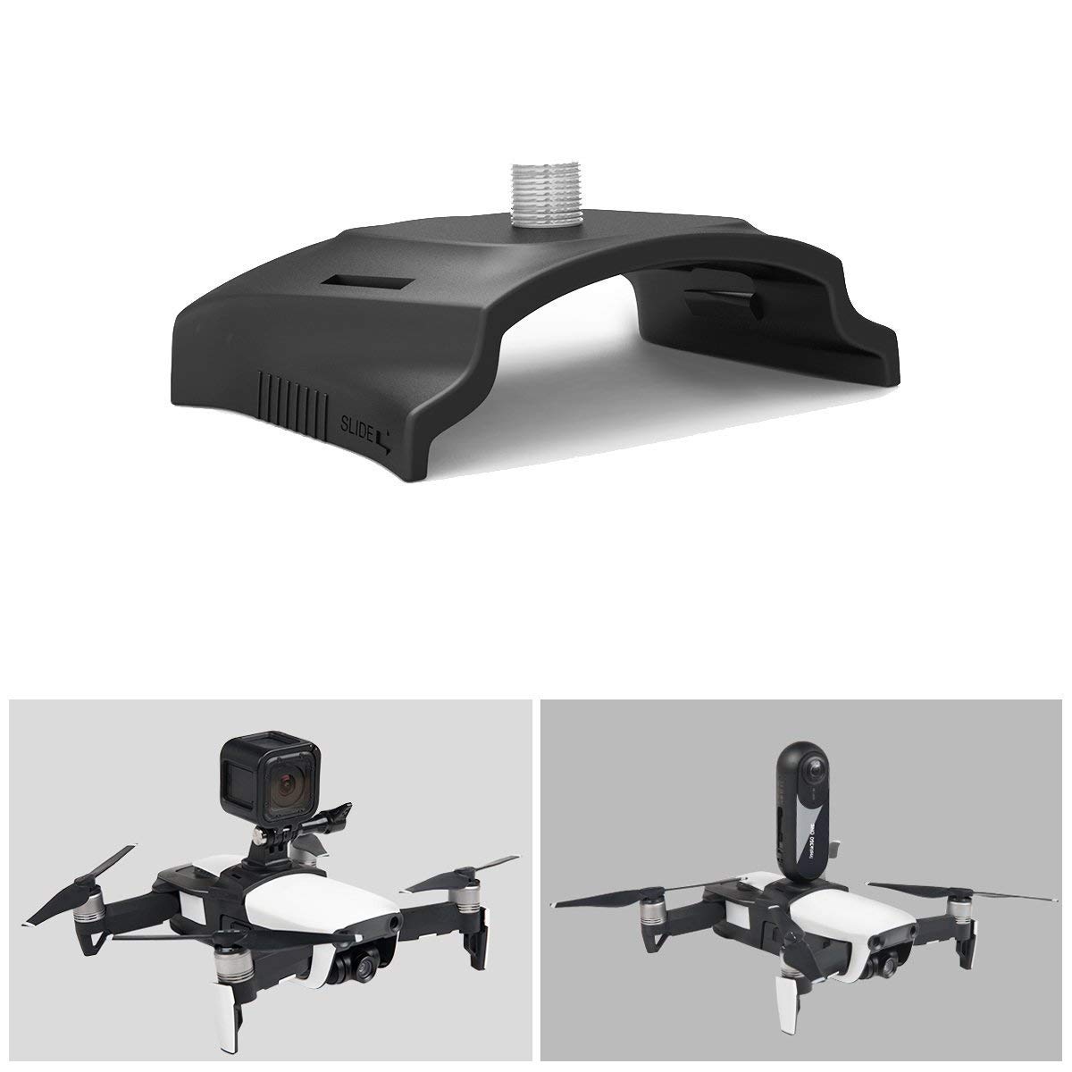 for DJI Mavic Air Drone Multifunction Adapter Bracket Holder with Screw, Mount 360-degree Rotatable Action Panorama Camera / Gopro Sport Camera LEMONPET