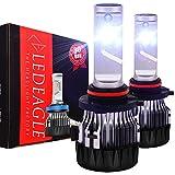 9005 LED Car Headlight Bulbs Kit - LED EAGLE HB3 10000lm CREE Chip Auto LED Light Conversion Kit 12v Replace for Car Halogen Lights or HID Bulbs,6000K-6500K Cool White CREE-XD-9005-6K