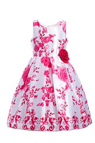 Emma Riley Girls' Party Printed Flower Dress Sleeveless Dress, Flower -