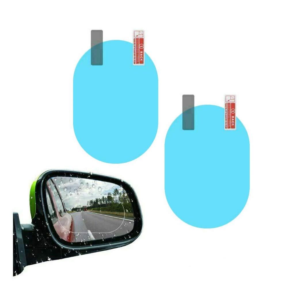 Pellicola Specchietto,2 pack Pellicola Protettiva Retrovisore per Auto Anti-Appannamento Anti-Riflesso Anti-Graffio Impermeabile Anti-Pioggia 145 100mm