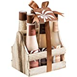 Bath and Body Skincare Luxury Spa Gift Set for Women in Tropical Milky Coconut Fragrance by Freida and Joe, Includes a Shower Gel, Bubble Bath, Bath Salts, Body Butter, Body Scrub, and Body Lotion
