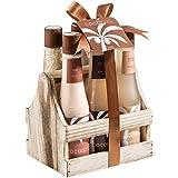 Tropical Milky Coconut Bath and Body Skin Care Basket Mother's Day Spa Gift Set- Shower Gel, Bubble Bath, Bath Salts, Body Butter, Body Scrub, Body Lotion,