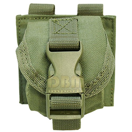 (OD GREEN Tactical M67 One Single Frag Hand Grenade Pouch Molle Pals Bag Holds 1)