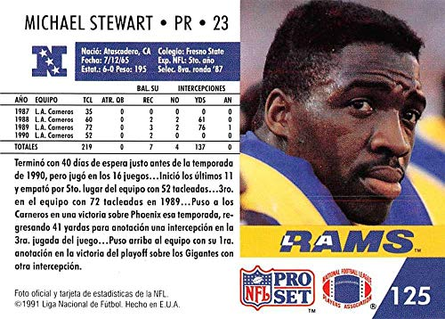 Amazon.com: 1991 Pro Set Spanish Football #125 Michael Stewart Los Angeles Rams: Collectibles & Fine Art