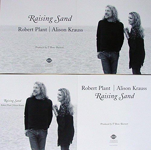 Robert Plant - Alison Krauss - Raising Sand - Two Sided Poster - New - Rare - Led Zeppelin - Union Station - T-Bone Burnett - Marc Ribot - Norman Blake - Rich Woman - Fortune Teller - Please Read The Letter - Gone, Gone, Gone (Done Moved On) - Killing the Blues (Robert Plant And Alison Krauss Gone Gone Gone)