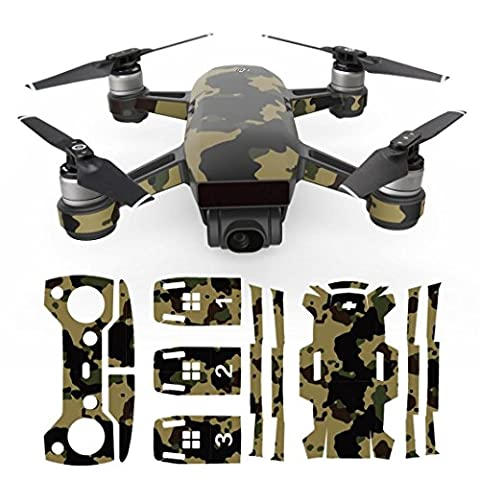 Vanvler Exquisite Camouflage Decals Waterproof Decal Skins Wrap Sticker Body Protector For DJI Spark Mini Drone (Wrap Brackets)