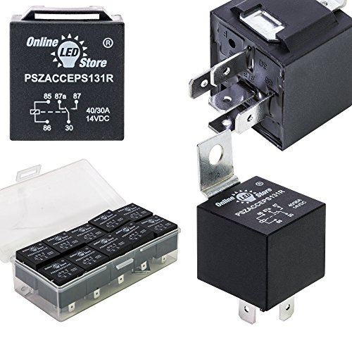 New 10 Pack - OLS 12V 30/40 Amp 5-Pin SPDT Bosch Style Electrical Relays supplier