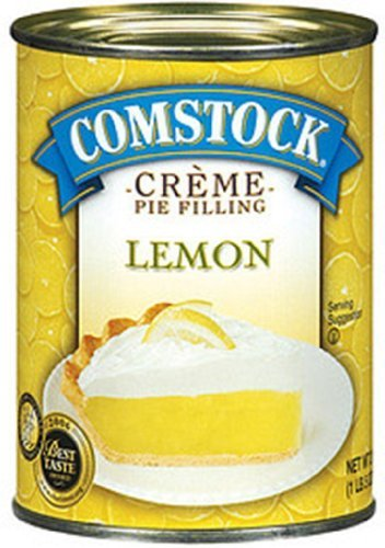 Comstock, Lemon Creme Pie Filling and Topping, 21oz Can (Pack of 3)