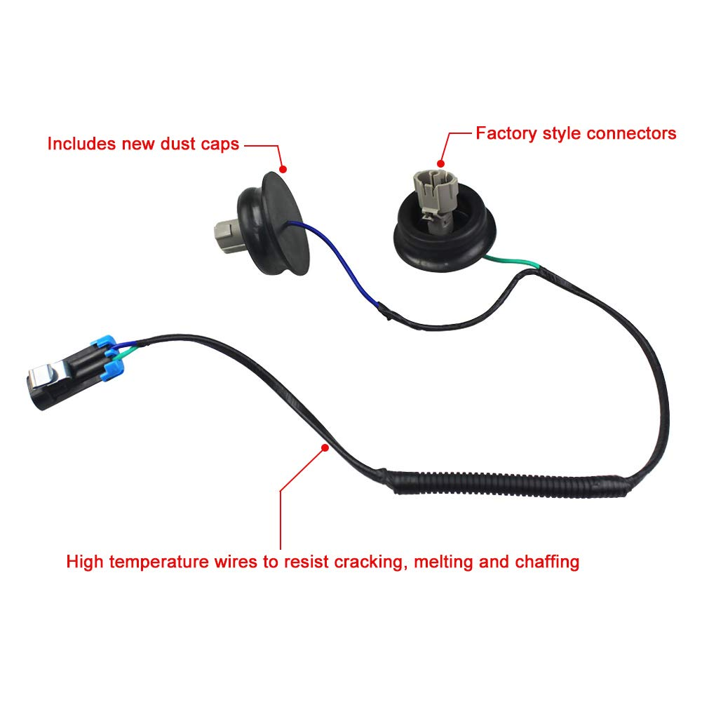 5.3 6.0 Dade Knock Sensor Wire Harness Kit Replaces 12601822 917-033 12589867 Fits Chevy Suburban Chevrolet Silverado GMC Sierra 4.8