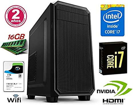 Megamania PC Ordenador SOBREMESA Intel Core i7 up 2,8Ghz| 1TB ...