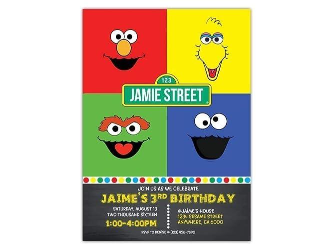Amazon Custom Sesame Street Birthday Party Invitations For Kids