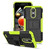 Numy LG K30 Case,K10 2018/LG CV3 Prime/LG Xpression Plus/Harmony 2/Premier Pro LTE/Phoenix Plus,Dual Layer Shockproof,w HD Screen Protector,Highly Protective w Kickstand Case,Tire Appearance-Green