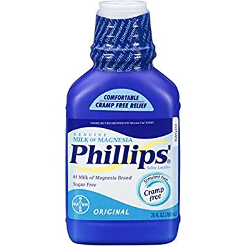 Phillips Original Milk of Magnesia Liquid, 26oz Bottle (Pack of 2) by