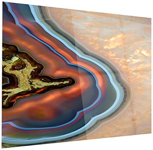 Abstract Mineral Texture - Modern Glossy gold Metal Wall Art