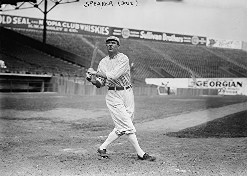Tris Speaker Boston Red Sox Baseball Player Photograph (24x36 SIGNED Print Master Giclee Print w/ Certificate of Authenticity - Wall Decor Travel Poster) - Sox Boston Players Baseball Red