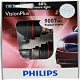 Philips 9007 VisionPlus Replacement Bulb, (Pack of 2)