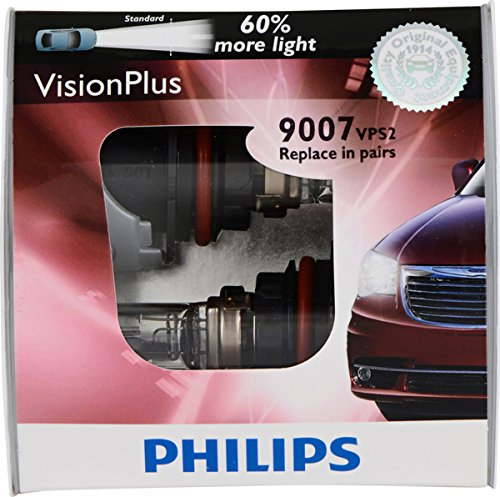 Philips 9007 VisionPlus Replacement Bulb, (Pack of ()