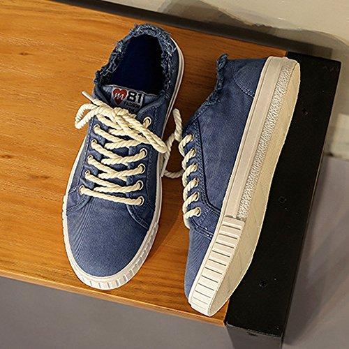 da denim Bianca in Sunny scarpe Dimensione Scarpe sportive all'abrasione 43 EU Color stringate Blue amante Resistente basse unisex stile amp;Baby uomo piatte wqTCSx7IqO
