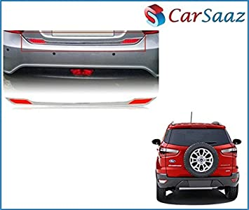 Carsaaz Dicky Chrome Garnish With Reflector For Ford Ecosport