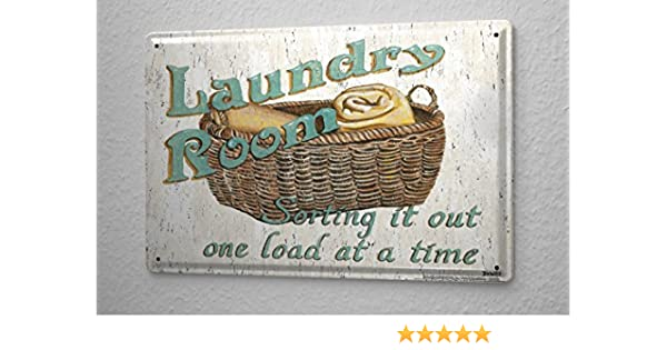 Refranes Cartel de chapa Placa metal tin sign Laundry Room Letrero De Metal 20X30 cm