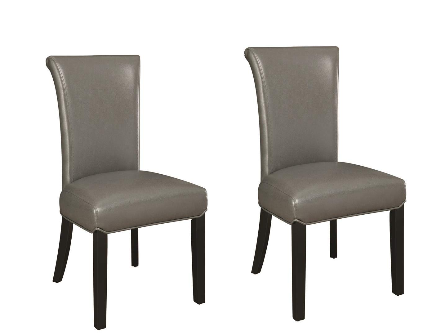 Newbridge Upholstered Side Chairs Black and Grey Set of 2
