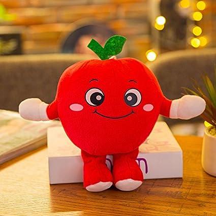 Upstudio Creative - Muñeca de Peluche para niños con Frutas Verduras, Verde Manzana, 25