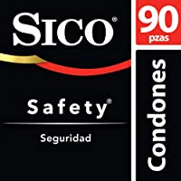 Sico Kit Condones Látex Natural Safety Liso 90 piezas
