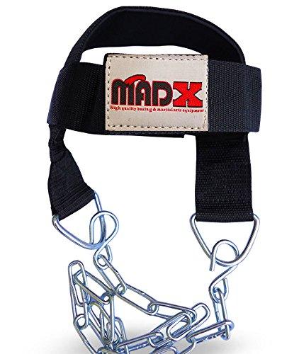 madx Tête Harnais pour cou d'exercice de musculation Chrome chaîne sangle réglable