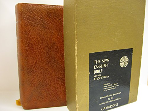 - The New English Bible with the Apocrypha A56X Saddle Brown Water Buffalo Calfskin (This is a Cambridge Bible, Cambridge Cameo Edition in Water Buffalo Calfskin)