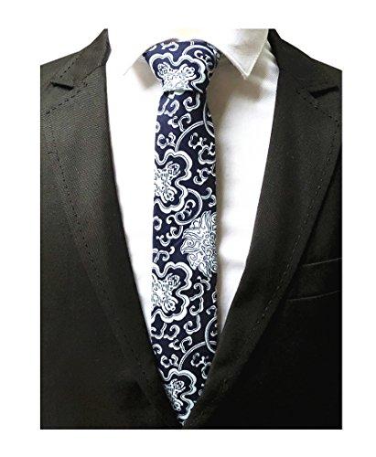 Big Boys Deep Navy Blue White Silk Ties